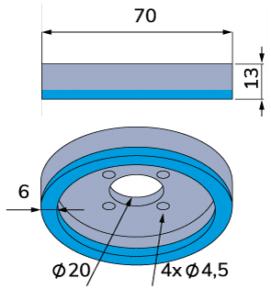 Wolframkarbid-Wellpappen-Schneidmesser für Fosber-TCB-00024