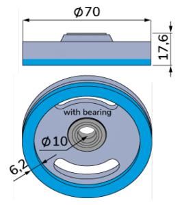 Tungsten carbide corrugated slitter knife for fosber-TCB-00124